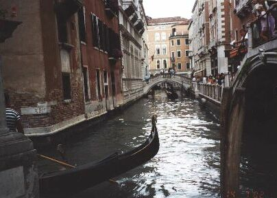 gondola on a canal, 