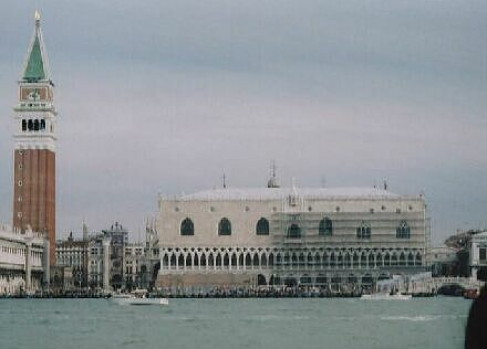 view of the Campanile Tower and Doge's Palace